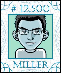 MILLER Stock Certificate #12,500