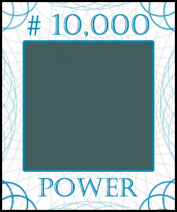POWER Stock Certificate #10,000