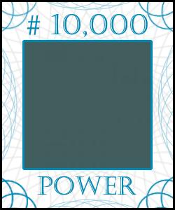 POWER Stock Certificate #10,000