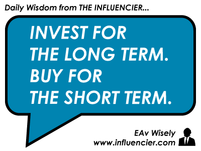 Empire Avenue Wisdom 012 Investing vs. Buying