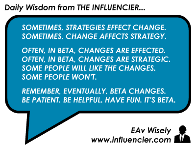 Empire Avenue Wisdom 016 - Beta Changes