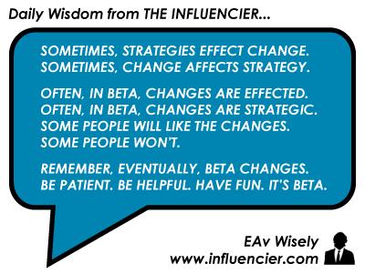 Empire Avenue Wisdom 016 - Beta Changes