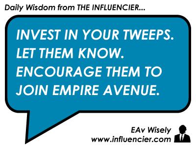 Empire Avenue Wisdom 019 - The Twitter Index