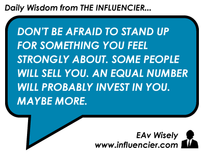 Empire Avenue Wisdom 021 - Stand Up