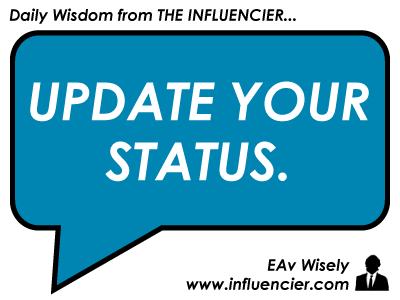 Empire Avenue Daily Wisdom 028 - Status Update